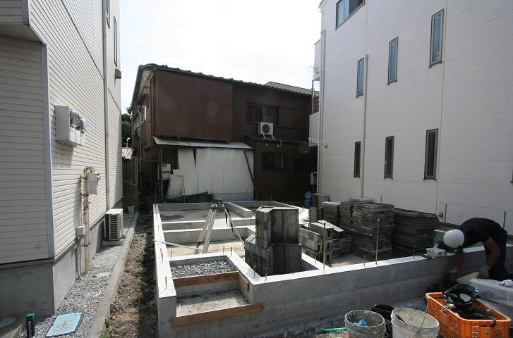 川口市の新築住宅現場より 基礎工事進行中!